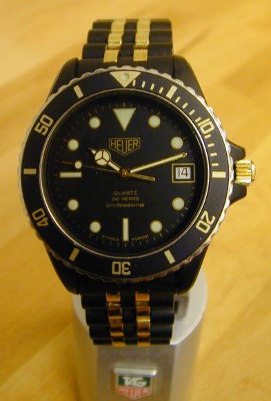 Fs black pvd heuer dive watch - Heuer dive watch ...