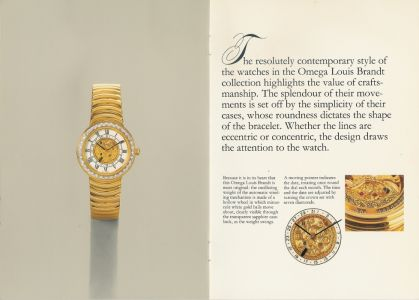 an english omega catalogue for louis brandt watches from 1985. Black Bedroom Furniture Sets. Home Design Ideas