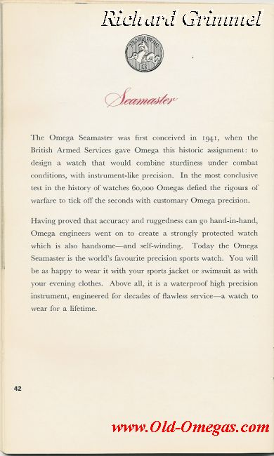 A UK Omega catalogue from 1963